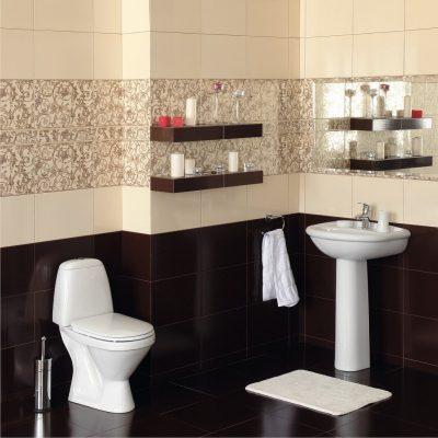 Красивая отделка ванной комнаты плиткой
