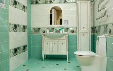 Комплект плитки для отделки ванной комнаты