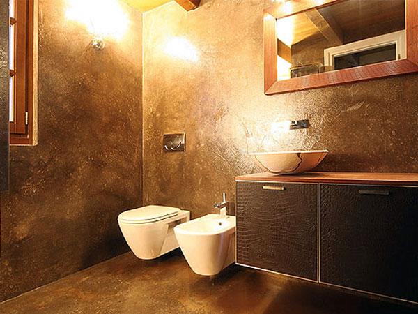 Пример отделки ванной комнаты штукатуркой