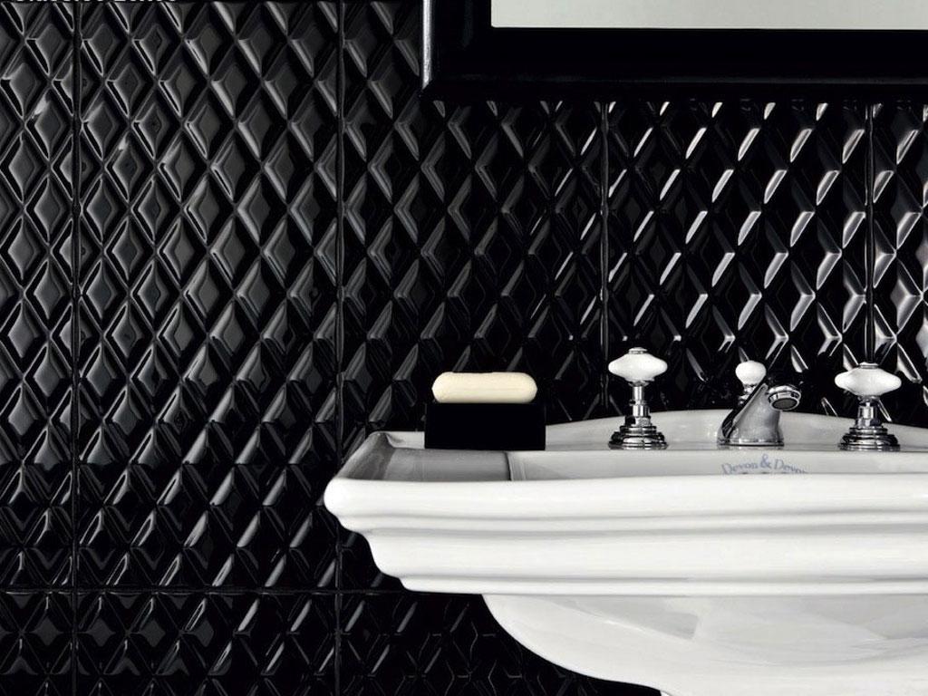 Черное и белое - идеальное сочетание для ванной