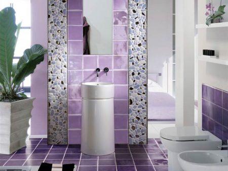 Изысканное оформление ванной комнаты