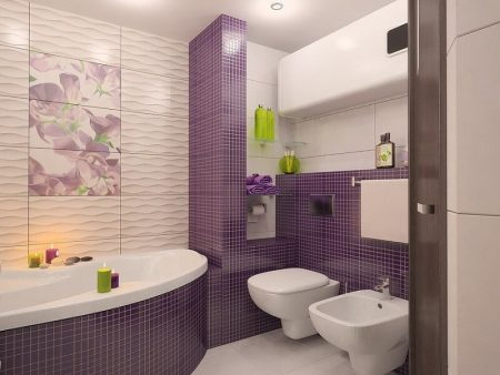 Пример дизайна плитки в ванной комнате