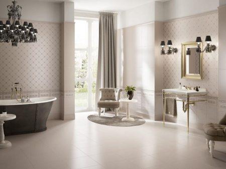 Отделка большой ванной комнаты