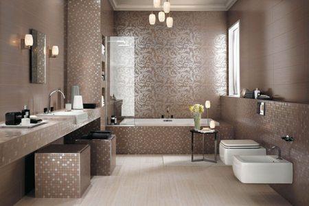 Отделка ванной комнаты Итальянской плиткой