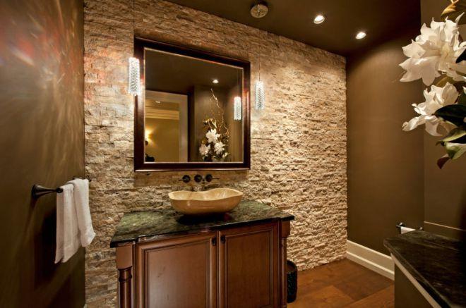 Пример отделки стен в ванной комнате