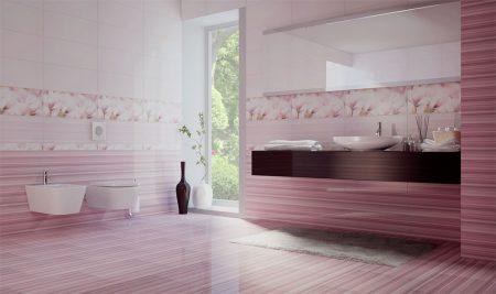 Красивое оформление ванной комнаты
