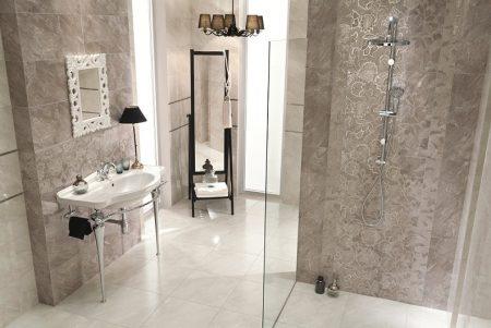 Вариант отделки ванной комнаты плиткой