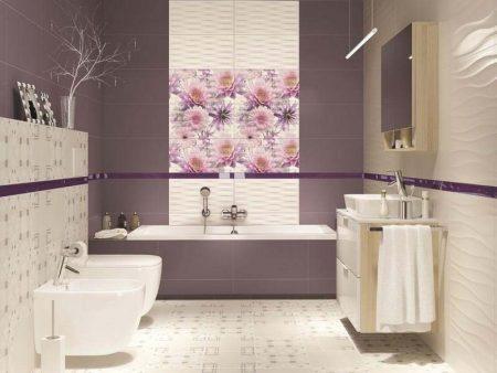 Пример польской плитки для ванной комнаты