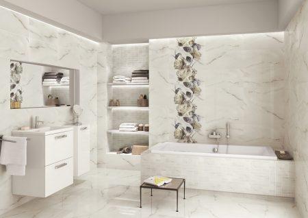 Красивое оформление ванной комнаты плиткой