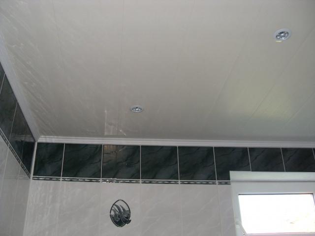 Пример потолка из пластиковых панелей
