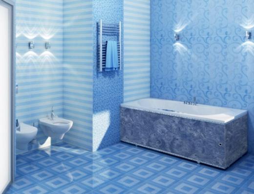 Стеновые панели в интерьере ванной комнаты