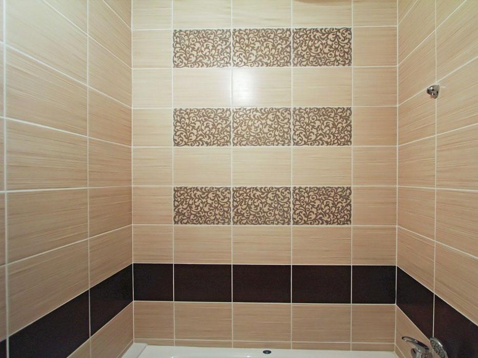 Вариант укладки плитки в ванной комнате