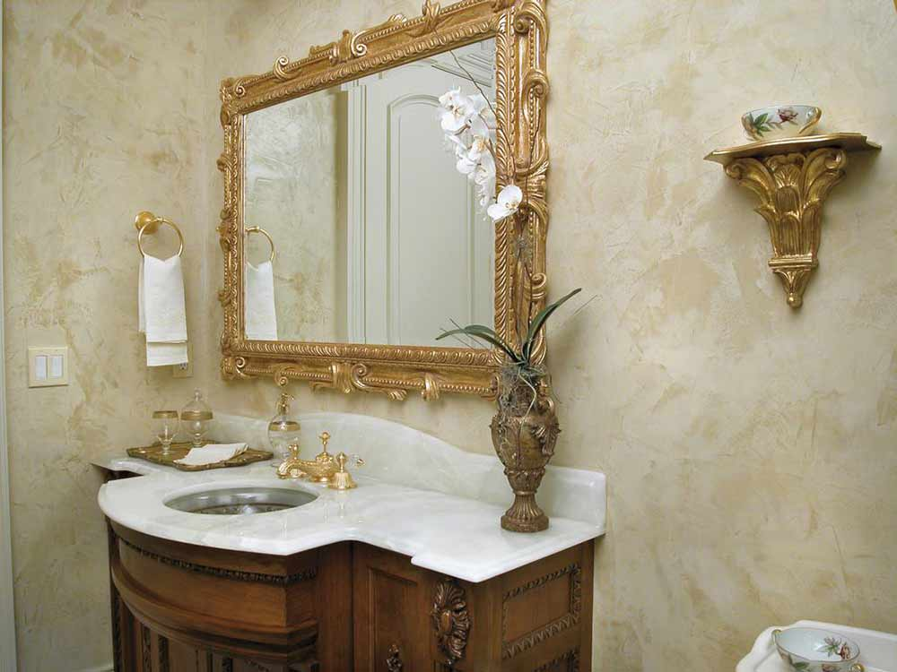 Пример венецианской штукатурки в ванной