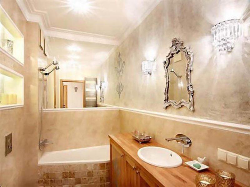 Отделка ванной комнаты штукатуркой